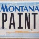Montana vanity PAINTER license plate Artist Craftsman Painting Paint Brush Art