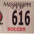 PALINDROME SOCCER Association #616 license plate Play Dribble European Football