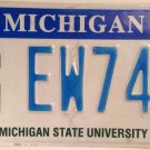 MICHIGAN STATE UNIVERSITY SPARTANS license plate College MSU NCAA March Sparty