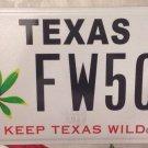 Keep TEXAS WILD license plate Flora Botanical Environment Flowers plants Nature