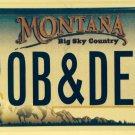 MT vanity ROB & DEB license plate Debra Debbie Deborah Robert Bob Bobby Robby