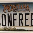 Vanity CONFEDERATE REBEL license plate Sons Veterans Civil War General Lee South