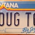 Vanity DOUG TOY license plate Douglas motorcycle boat Harley car Dougal Dougan