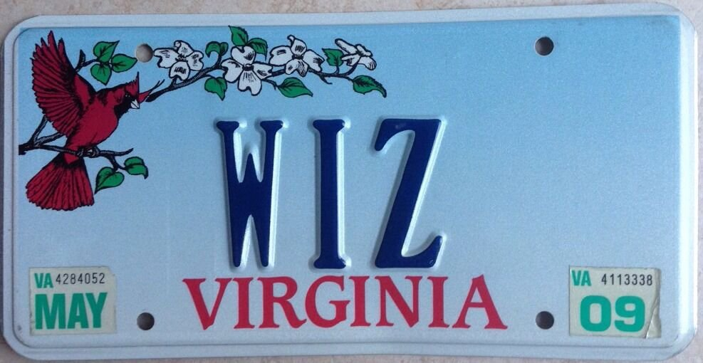 Vanity WIZARD license plate Oz Merlin Mickey Mouse Disney Magic Magician Witch