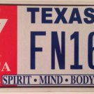 Texas YMCA SPIRIT MIND BODY license plate Village People Young Men Christian Y