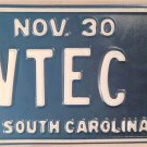 Vanity TV TECHNICIAN license plate TELEVISION Camera Video Broadcast Production