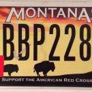 WILD BUFFALO license plate Sunset National Park BBP 228 Wildlife Red Cross
