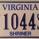 SHRINERS INTERNATIONAL license plate Shriner Masonry Free Mason Masonic Masons