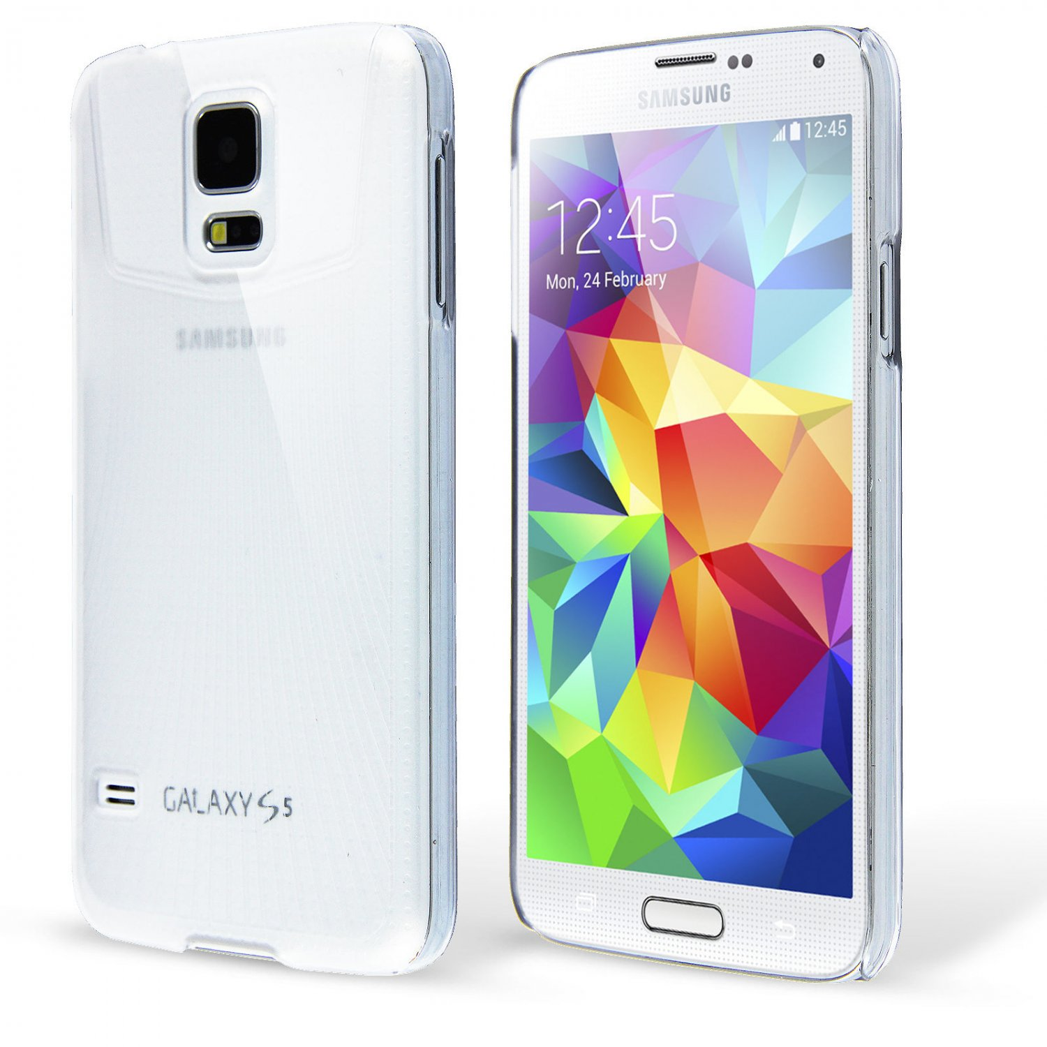 Thin Crystal Clear Hard Snap On Case for Galaxy S5 i9600