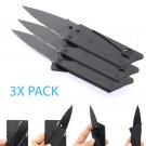 3X Folding Credit Card Stainless Steel Wallet Knife - Card to Knife in 3 Folds!
