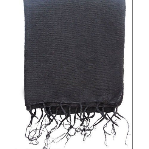 Himalayan Yak Wool Plain Black Shawl,NEPAL