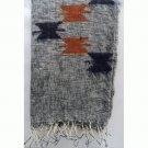 Himalayan Yak Wool Butta Grey White Shawl,NEPAL