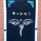 Black Wisdom Eye Cotton Door Curtains NEPAL