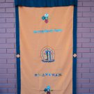 Orange Kalachakra with Eight Auspicious Symbol and Double Dorjee Door Curtain