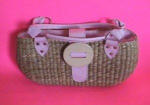 Cute Handmade Straw Tote Purse Handbag