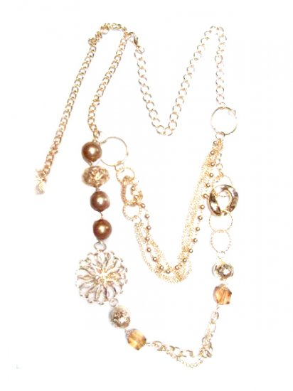 Double Goldtone Chain Necklace