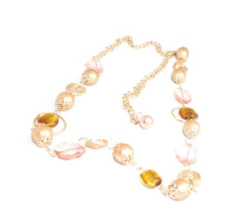 Goldtone Beaded Chain