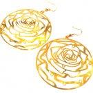 Round Rose Earrings