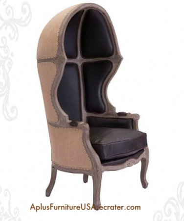 "Accent Chair Brown Ellis Dome 62.6"" H x 33.5"" W"