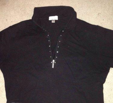 "��SEXY�� HTF RARE ""BLING BLING""  Short Sleeve Ladies Golf Shirt - Large"