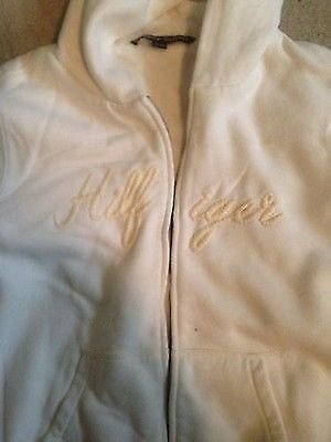 "��SEXY��Tommy Hilfiger Ladies white ""Fuzzy""/hoodie/sweater/jacket ~ XL"