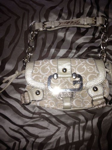 """��Gorgeous�� Gold G """"Bling"""" Guess Satchel/bag/purse~Retails For $149"""