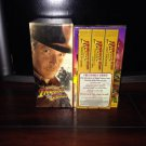 ⭐️THE ADVENTURES OF⭐️INDIANA JONES VHS Gift Box ~ ⭐️Comes With BONUS Video