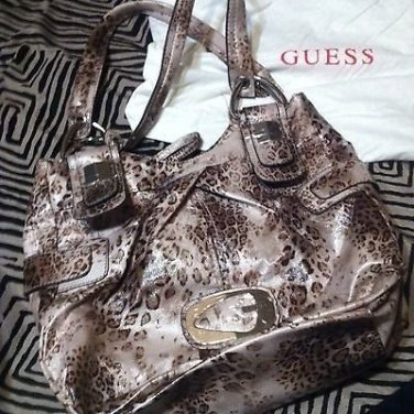 "��NEW��GORGEOUS ��Guess ""Lepoard"" Print Design Tote/bag/purse - Retails $189"