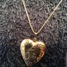 "⭐️PERFECT FOR MOM (MOTHER)⭐️Vintage ""I LOVE YOU"" Pendant/Locket/Necklace 10k"