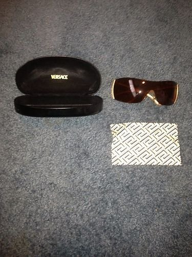 """GORGEOUS Authentic Sexy""""Bling Bling"""" Gold/Diamond Versace Ladies Sunglasses"""
