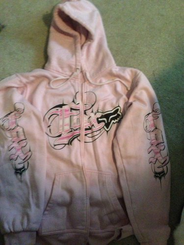"��SEXY HOT PINK�� ""FOX"" Motocross Zip Up Hoodie/sweater/jacket - XL"