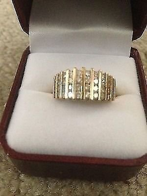 ��MOTHERS DAY SALE $200 OFF��1Ct GENUINE DIAMOND Channel Set Ring/Band 10k YG