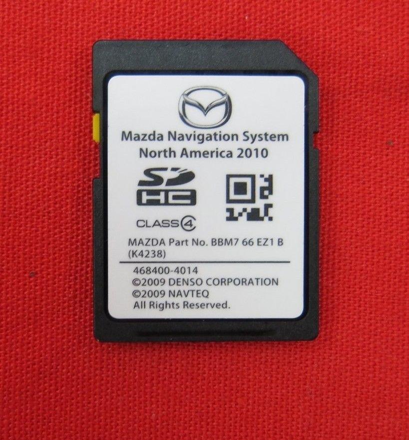 mazda navigation sd card 2010 2011 2012 bbm7 66 ez1 b. Black Bedroom Furniture Sets. Home Design Ideas