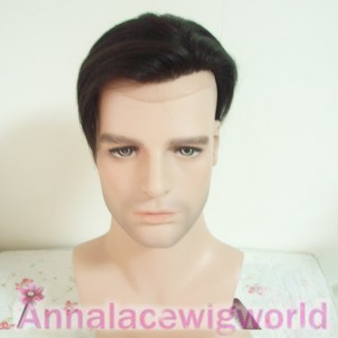 100%HUMAN HAIR LACE FRONT WIG FOR MEN