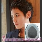 HUMAN HAIR SKIN FRONT LACE TOUPEE FOR MEN