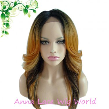 2017 hight temperature synthetic lace front wig for women