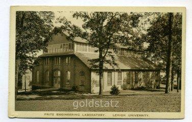 Fritz Engineering Laboratory Lehigh University Bethlehem Pennsylvania postcard
