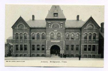 Armory Bridgeport Connecticut postcard