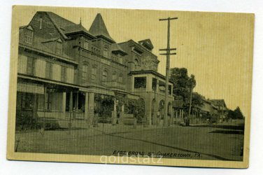 East Broad Street Quakertown Pennsylvania 1912 postcard