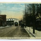 Trolley Junction Broad and Main Streets Quakertown Pennsylvania postcard