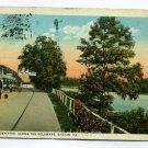 Doylestown Pike along Delaware River Easton Pennsylvania 1930 postcard