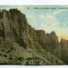 Wall of the Bad Lands Cedar Pass South Dakota postcard