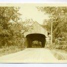 Covered Bridge Bradford Vermont RPPC postcard