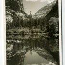 Mirror Lake Yosemite National Park California RPPC postcard