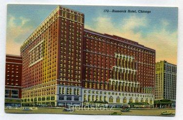 Bismarck Hotel Chicago Illinois postcard