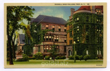 Russell Sage College Troy New York postcard