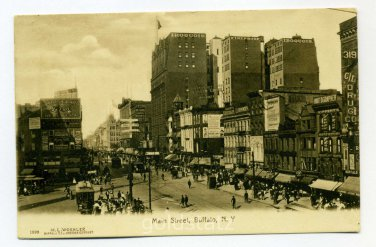 Main Street Buffalo New York postcard