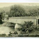 Covered Bridge Housatonic River West Cornwall Connecticut postcard