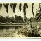 MacArthur Park Los Angeles California RPPC postcard