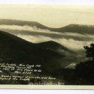 Devils Saddle New Creek Mountain West Virginia RPPC postcard